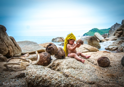 Baby stuck on an island